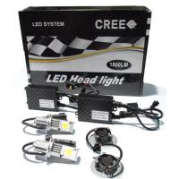 China LED Car Cree Head Light Kit H7-50W/1800LM x2PCS on sale