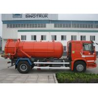 Quality 8 - 12CBM Sewage Suction Truck With Vacuum Pump 6 Wheels 266HP Engine for sale