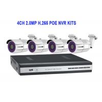 Buy cheap 4CH 2.0MP H.265 POE NVR KITS With Waterproof Bullet IP IR Camera from wholesalers