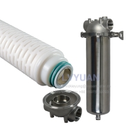Buy cheap Microporous 0.2 Micron PP PTFE PES Membrane Pleated Water Filter product