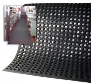 China Honeycomb Anti-slip Rubber Mat , Drainage Rubber Mat on sale