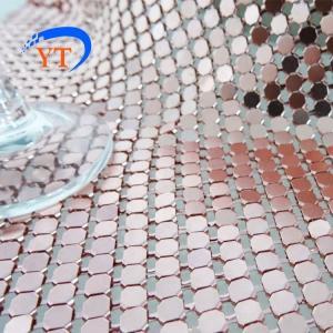 Buy cheap 4mm Silver Aluminum Mesh Fabric Decorative Flexible Metal Sequins Wall product