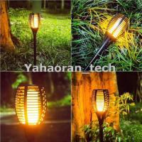 China Dancing Flame camping Lighting Outdoor Waterproof solar led torch light for Landscape on sale