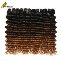 Buy cheap Highlighted Deep Curly Colored Virgin Hair Extensions 7a For Black Women product