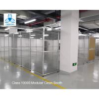 Buy cheap Class 10000 FFU Clean Room Equipment Aluminum Structure With Sliding Doors /  Pharmaceutical Clean Booth product
