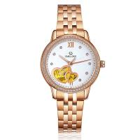 Buy cheap Fashion Rose Gold Automatic Mens Wrist Watches With Stainless Steel Back product