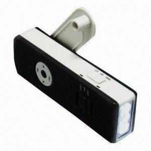 China Dynamo Flashlight Radio with AC Motor and 3.5mm Headphone Plug on sale