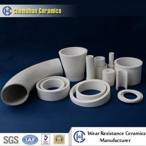 Revêtement en céramique de tuyau d'alumine résistante à l'usure pour le système de transport matériel