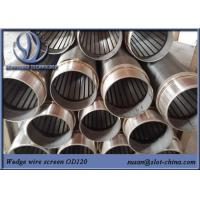 Buy cheap Water Treatment Johnson Screen Wedge Wire Stainless Steel Slot Tube Water Well Screen from wholesalers