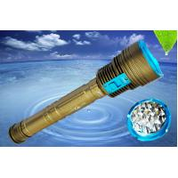 Buy cheap Rechargeable 8000Lm Led Dive Flashlight Scuba Diving Lights 700G Weight from wholesalers