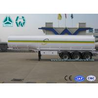 Buy cheap Sinotruk Howo Carbon Steel Tri - axle crude oil trailers One Compartment Emergency Valve from wholesalers