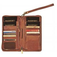 Buy cheap Mens Stylish Leather Wallet , Zipper Closure Travel Document Wallet product
