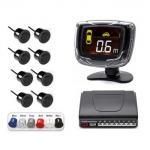 Buy cheap Rainproof Car Reverse Parking Sensor Kit With 8 Sensors LCD Backlight Display product