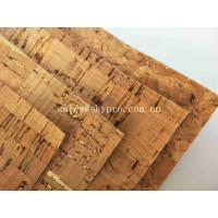 Buy cheap Colorful Thin Soft Natural Cork Rubber Sheet Roll Synthetic Leather Fabric product