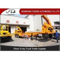 Buy cheap 20 Foot / 40 Foot Side Loader Trailer With Hydraulic Lifting System product