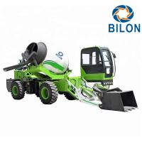 Buy cheap Green Color 2.6 CBM Concrete Mixer Truck With Pump Speed 13r / Min product