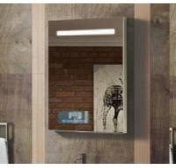 Buy cheap Miroir éclairé à contre-jour par mur de miroir en verre de salle de bains d'hôtel avec le bluetooth léger du miroir TV product