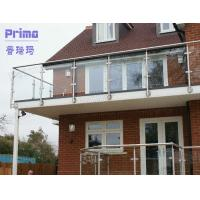 Buy cheap Plexiglass balcony railing design with stainless steel post product