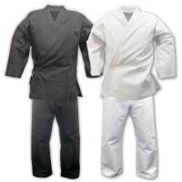 China Custom Lightweight Karate Gi / Black Karate Uniform 100cm - 150 cm Size on sale