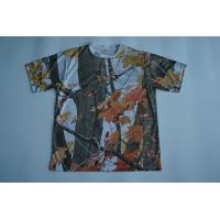 Round Neck Custom Printed T Shirts Full Sublimated Polyester With Camouflage