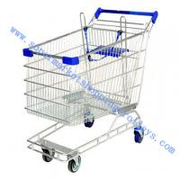 China Australia Chrome Plating Supermarket Shopping Cart Four Caster , Logo is Available on sale