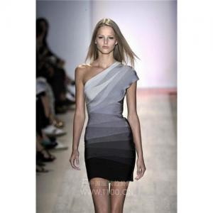 Buy cheap Sexy formel d'épaule simple rouge de /White /Blue de robe du bandage des femmes de Herve Leger pour la célébrité product