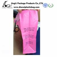 Bottom up HDPE Rope Handle pink Plastic Bags with 500mm width ,