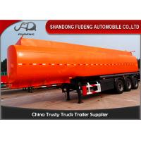 Buy cheap Flammable Fuel Tanker Truck 25000 L , Fuel Tank Trailer  With 3 Compartments product