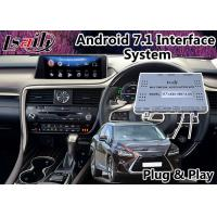 Buy cheap Android 7.1 Auto Interface , GPS Navigation System for Lexus RX 450h 12.3 Inch , from wholesalers