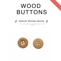 Buy cheap 20L 4 Hole Natural Wooden Buttons product