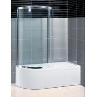 Buy cheap Two Panel Sliding Shower Bath Screen Curved ,  P Shaped Bath Folding Shower Screen product