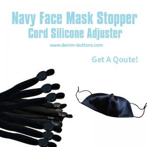 Buy cheap Navy Face Mask Stopper | Toggle Cord Locks Silicone Adjuster product
