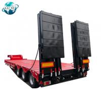 Buy cheap 3 Axle 60ton Lowbed Lowboy Semi Trailer Low Bed Truck Trailer for sale product