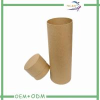 China Eco-friendly kraft paper Tube Wine Shipping Boxes With Lid , Decorative Storage Boxes on sale