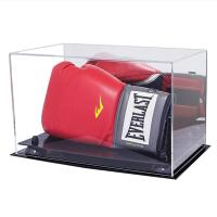 Buy cheap Eco - Friendly Acrylic Display Containers Clear Acrylic Lucite Boxing Glove Display Case product