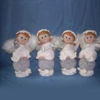 Buy cheap Angels Design Christmas Craft with Hand Painted, Made of Polyresin and Porcelain product