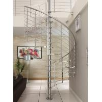 Buy cheap Modern customized tempered glass spiral staircase stainless steel product