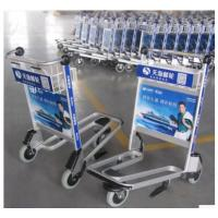 China Unfolding Airport Luggage Trolley Shopping Cart Three Wheel With Brake on sale