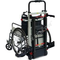 Buy cheap Docking Car Handicapped Electric Stair Climbing Wheelchair In Black Color from wholesalers