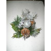 Buy cheap Silver Tinsel hydrangea  Artificial Christmas Decorative Flower for weddings product