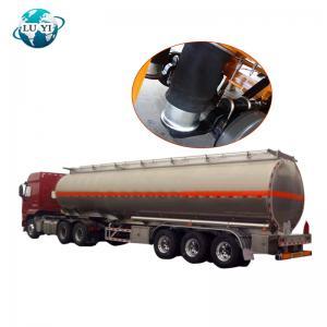 Buy cheap Tri-axle carbon steel oil fuel petrol milk water transport tanker semi truck trailer for sale product