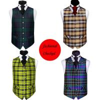 Buy cheap Colorful checked new fashion styles waistcoat for gentleman product