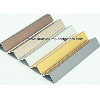 Buy cheap Durable Anodized Brushed Aluminium Corner Protectors For Walls 1.5mm Thickness from wholesalers