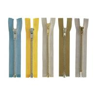 Anti-brass plated Brass Metal Zipper 8# , eco-friendly OEM available for jean