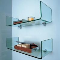 Buy cheap New design space saver corner glass polished custom glass shelves cabinet's glass shelves product