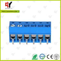 Buy cheap HQ300-5.0 PCB Terminal Block 5.0 Wire Range 22- 14 AWG , Connector Terminal Block product