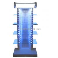 China Top Illuminating Retail Gondola Shelving Metal Glass Display Stand For Merchandising wholesale