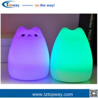 China Room decoration silicon lamp 7 Color Changing LED Lamp kids animal night light on sale