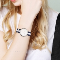 Buy cheap 40mm Women'S Boyfriend Watch Nylon Band Leading Fashion Without Numbers product