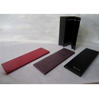 China Foldable Restaurant Menu Books , PU Leather Drink Menu Covers Black Color on sale